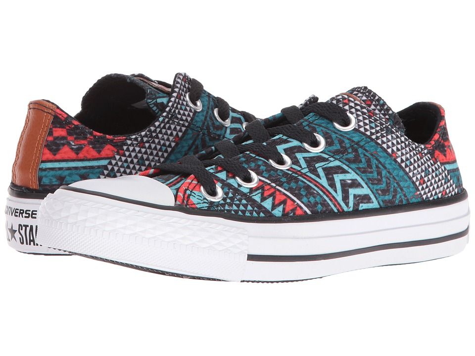 Converse Chuck Taylor All Star Festival Woven (Aqua/Black/Red) Classic Shoes