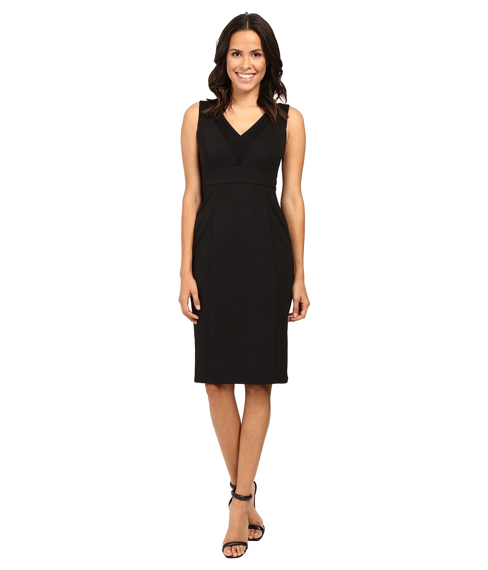 Adrianna Papell - Sleeveless Bodycon Dress (Black) Women's Dress