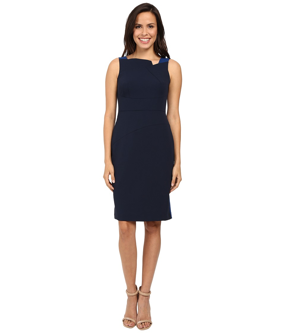 Adrianna Papell - Structured Oragami Sheath Dress (Night Flight) Women's Dress