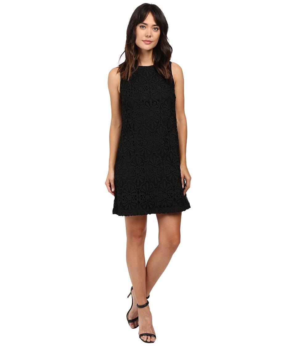 Adrianna Papell Chemical Lace Trapeze Dress (Black) Women