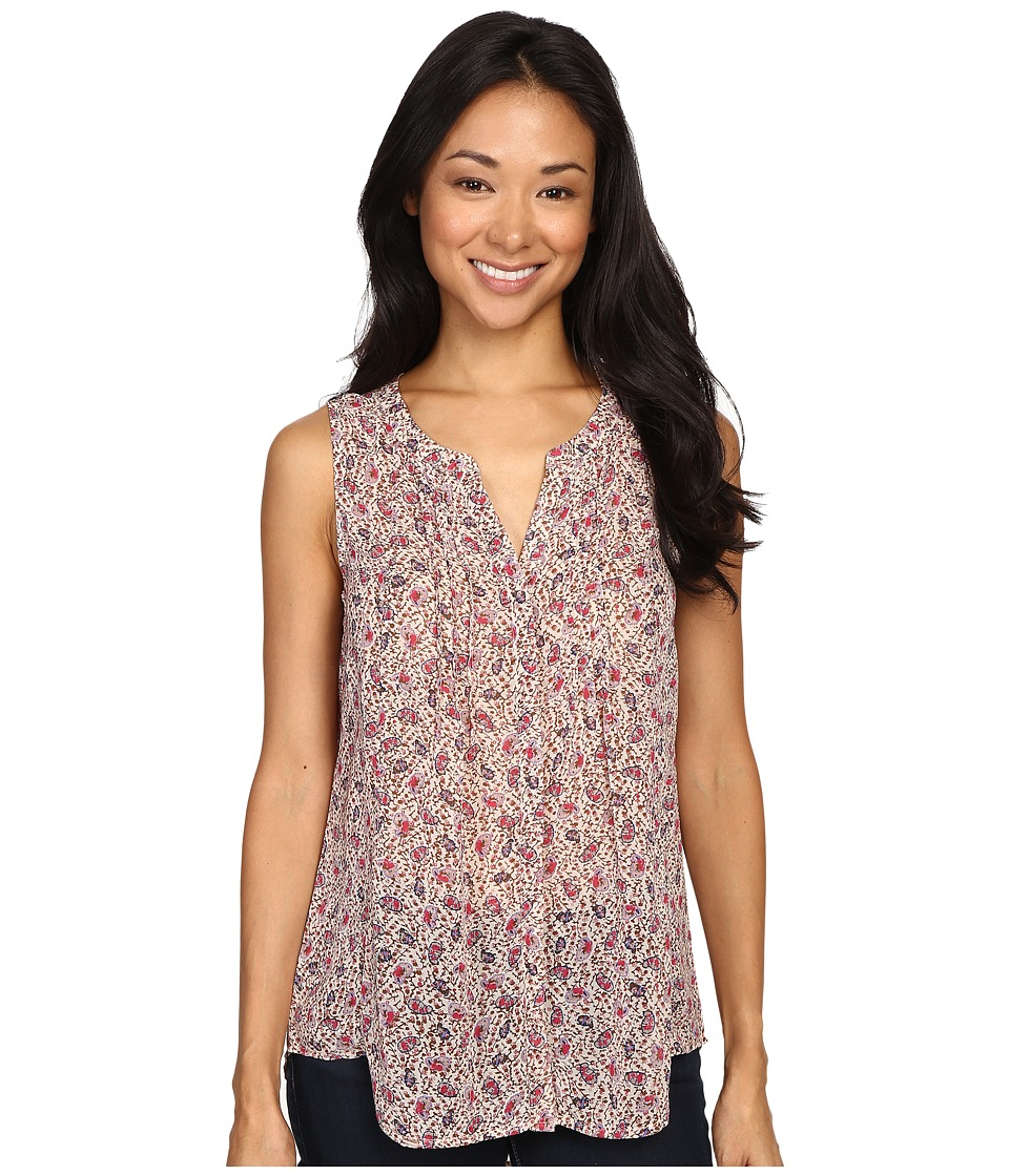 Lucky Brand - Ditsy Paisley Top (Pink Multi) Women's Long Sleeve Pullover