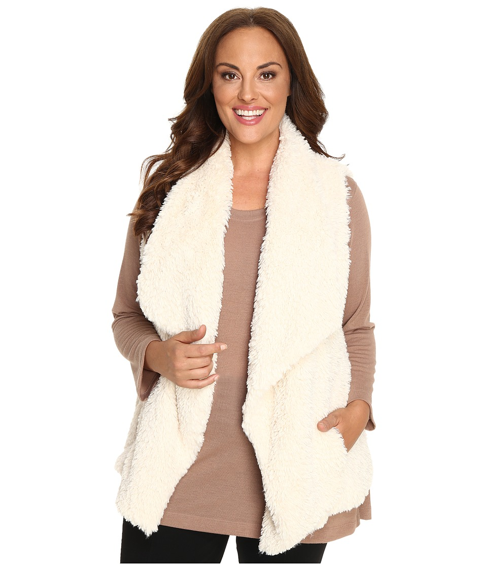 Calvin Klein Plus - Plus Size Short Hair Faux Fur Vest (Soft White) Women's Vest