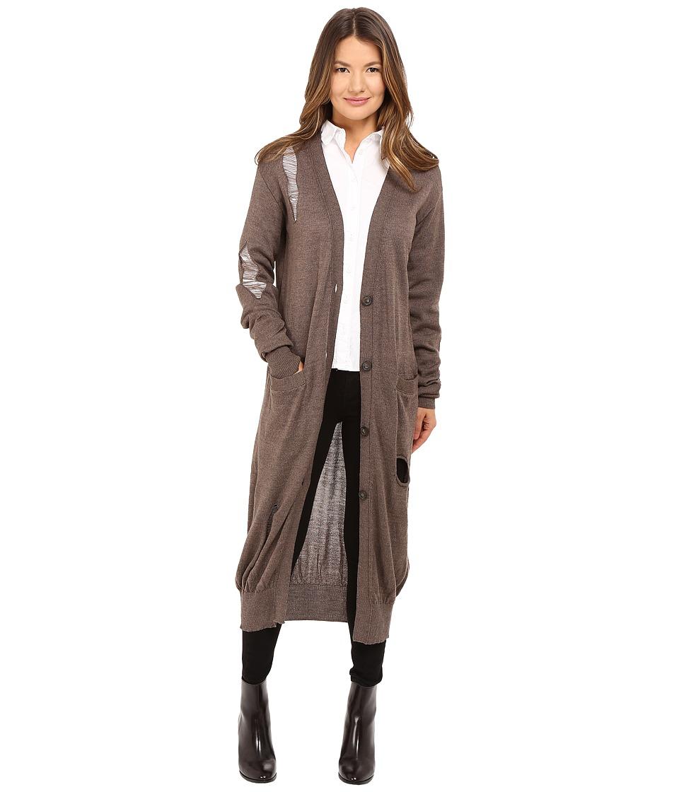 Vivienne Westwood - Long V-Neck Cardigan (Nutmeg) Women's Sweater