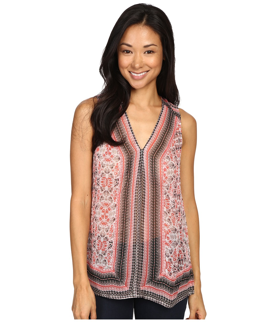 Lucky Brand - Printed Border Tank Top (Red Multi) Women's Sleeveless