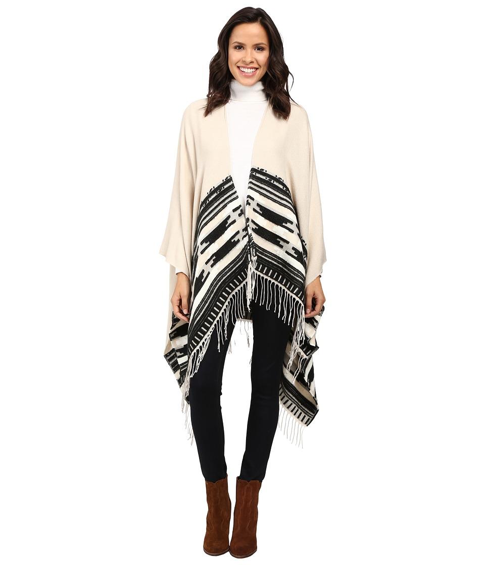 Vince Camuto - Geo Weave Ruana (Vanilla) Women's Sweater