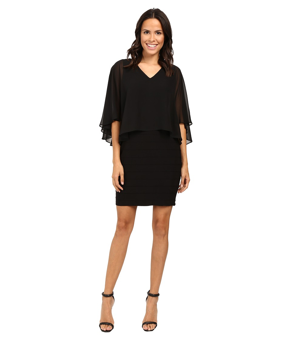 Adrianna Papell Lined Banded Matte Jersey Sheath Dress