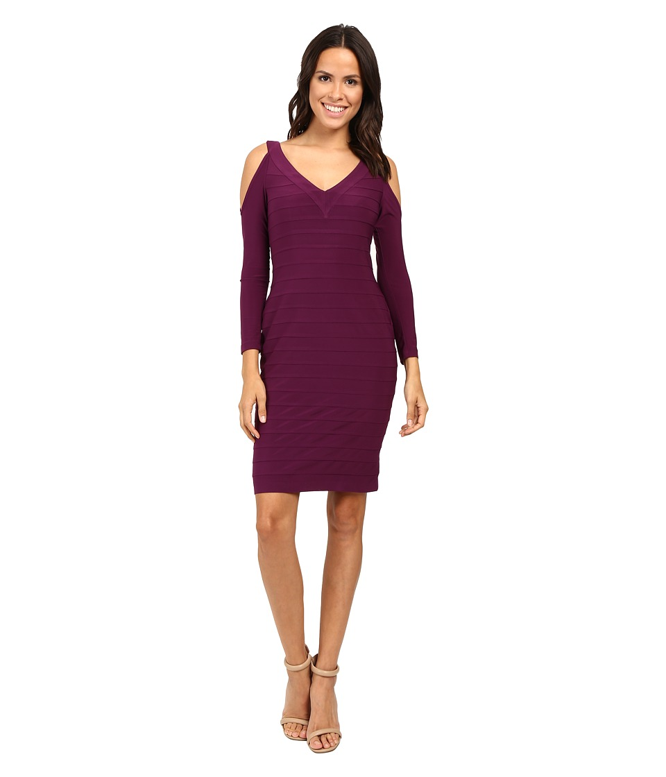 Adrianna Papell - Partially Lined Matte Jersey Banded Sheath Dress (Winter Blackberry) Women's Dress