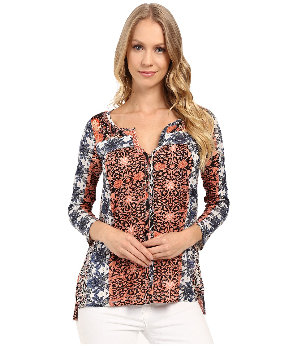 Lucky Brand - Multi Printed Top (Red Multi) Women's Clothing