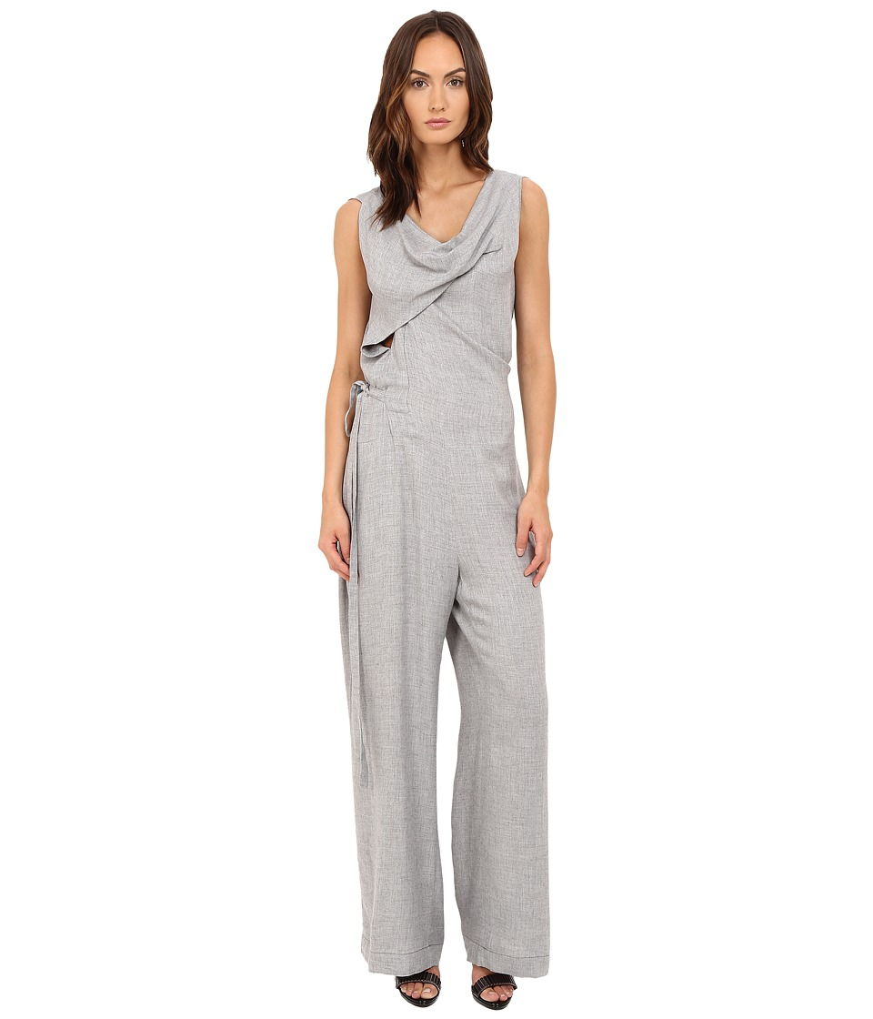 Vivienne Westwood - Twisted Jumpsuit (Grey Melange) Women's Jumpsuit & Rompers One Piece