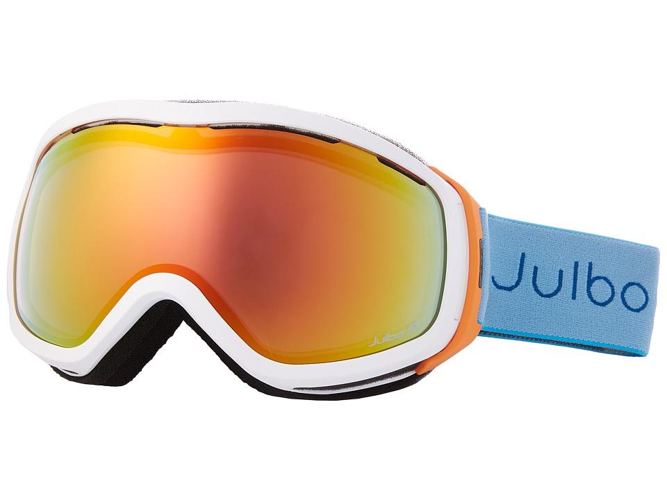 Julbo Eyewear - Elara (White/Orange/Turquoise with Zebra Light Photochromic Lens) Snow Goggles