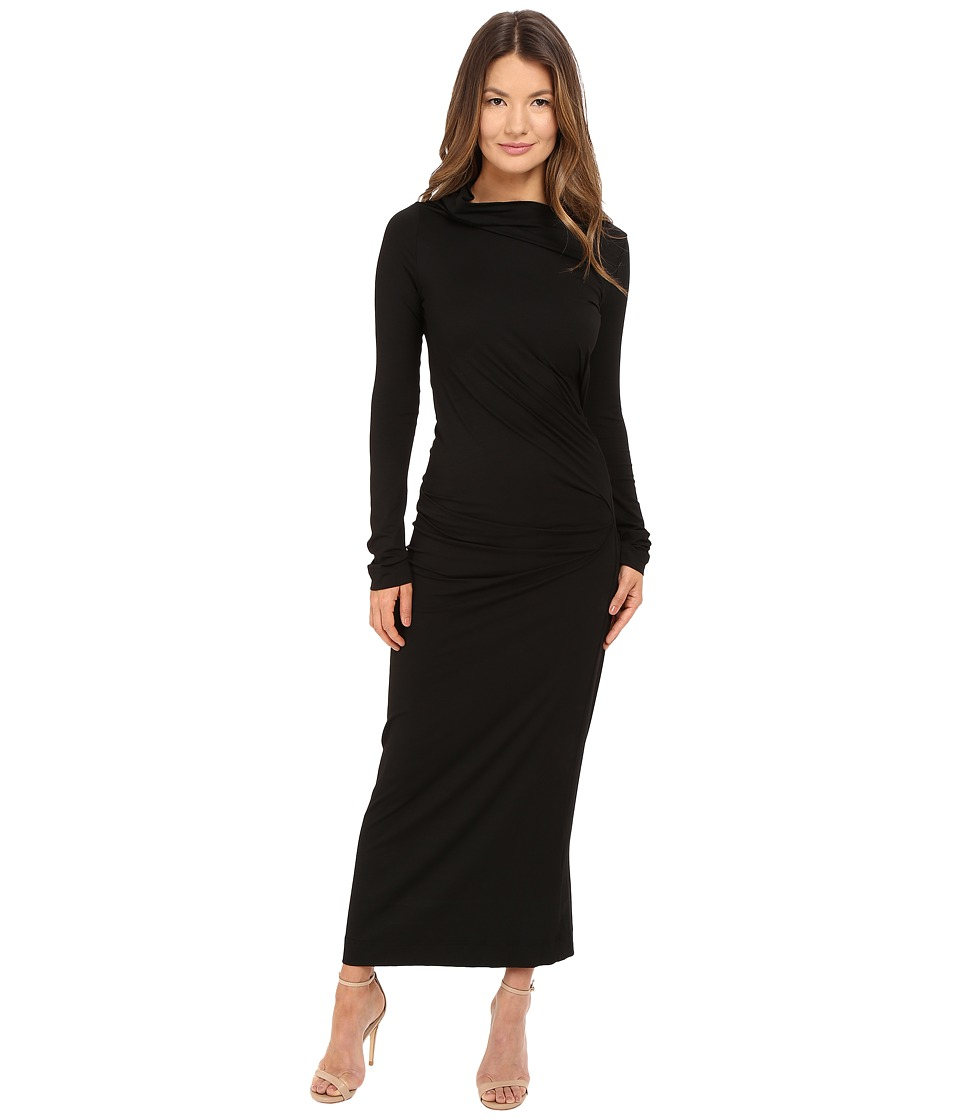 Vivienne Westwood - Long Sleeve Maxi Taxa Dress (Black) Women's Dress