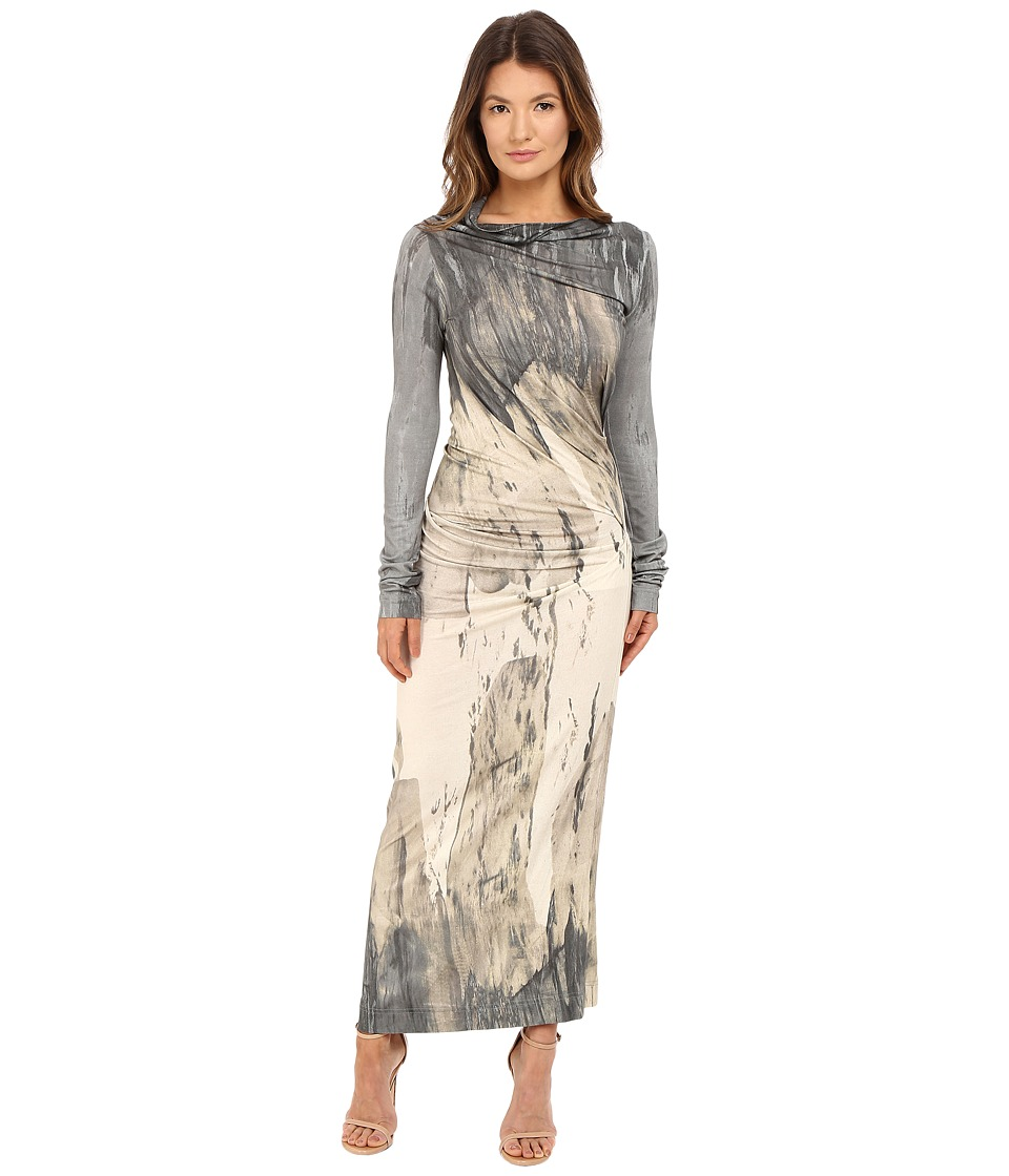 Vivienne Westwood - Long Sleeve Maxi Taxa Dress (Natural) Women's Dress