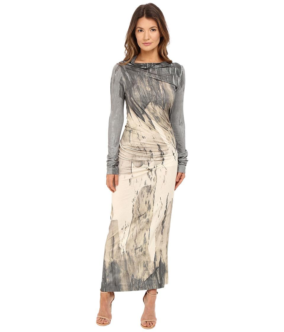 Vivienne Westwood Long Sleeve Maxi Taxa Dress (Natural) Women