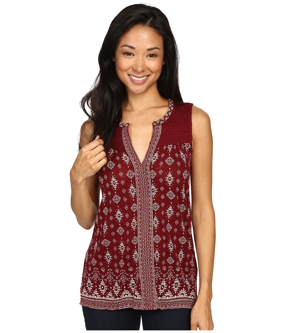 Lucky Brand - Mix Geo Tank Top (Berry Multi) Women's Sleeveless