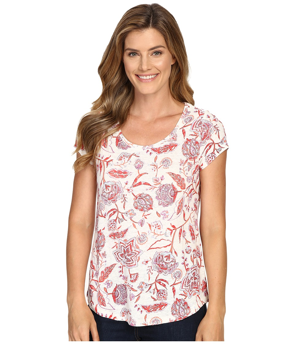 Lucky Brand - Indo Floral Tee (Red Multi) Women