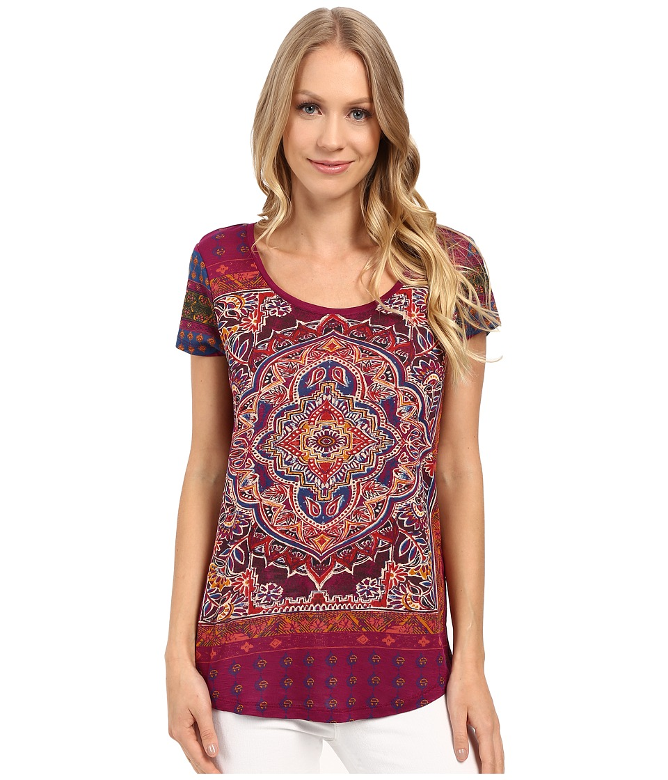 Lucky Brand - Persian Carpet Tee (Purple Potion) Women's T Shirt