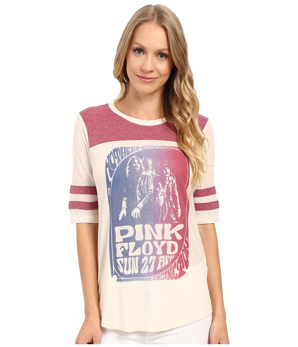 Lucky Brand - Pink Floyd Football Tee (Nigori) Women's T Shirt