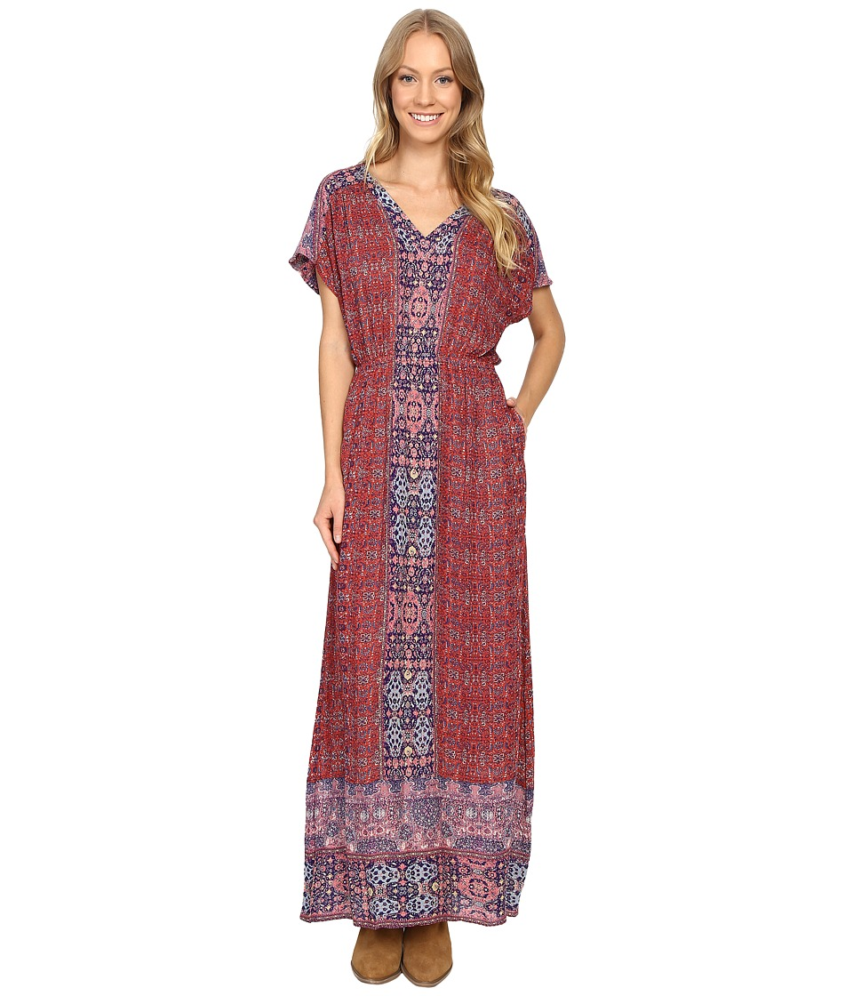 Lucky Brand - Tapestry Print Dress (Pink Multi) Women's Dress