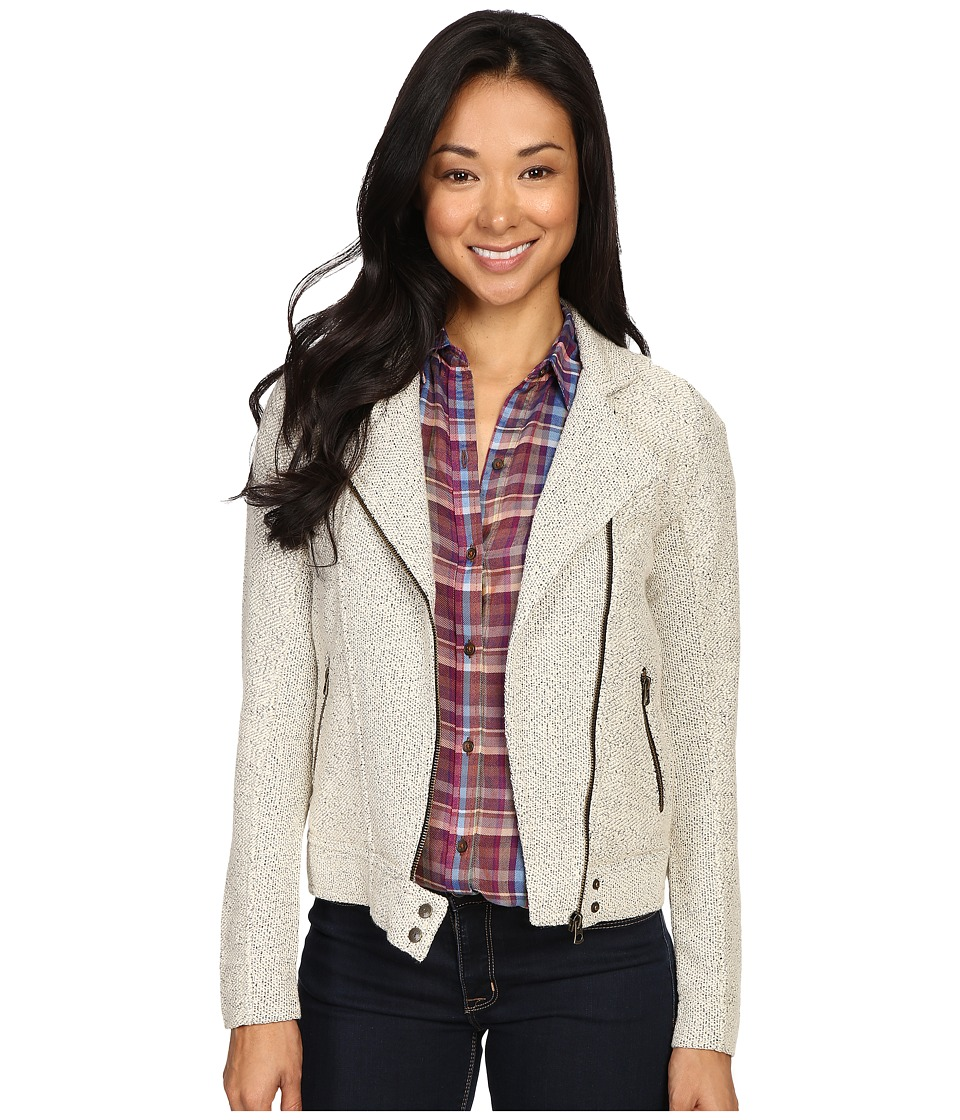 Lucky Brand - Textured Moto Jacket (Natural Multi) Women's Coat