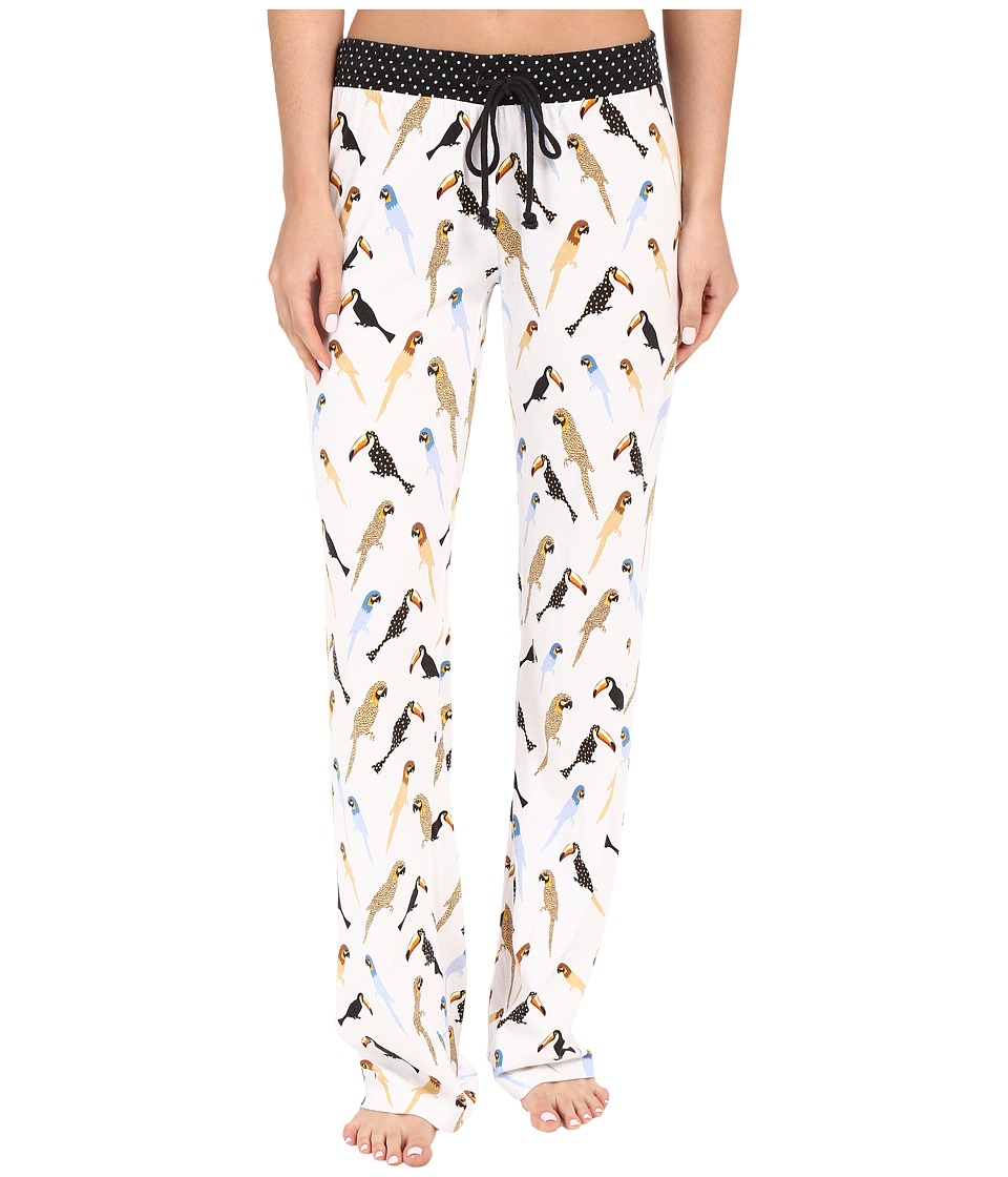 P.J. Salvage - Tropical Tweet Lounge Pants (White) Women's Pajama