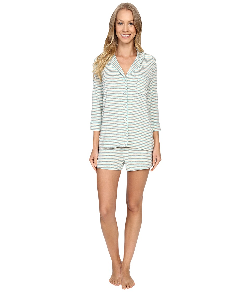 P.J. Salvage - Blue Stripe PJ Short Set (Blue) Women's Pajama Sets