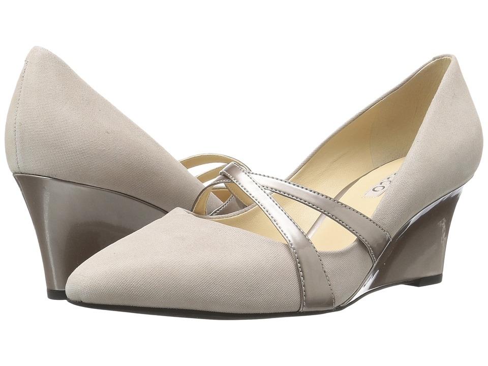 ECCO - Belleair Wedge (Oyester/Oyester Metallic) Women's Wedge Shoes