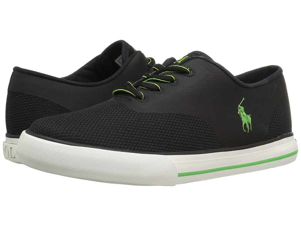 Polo Ralph Lauren Kids - Vaughn Fusion (Little Kid) (Black Mesh/Green Pony Player) Kid's Shoes