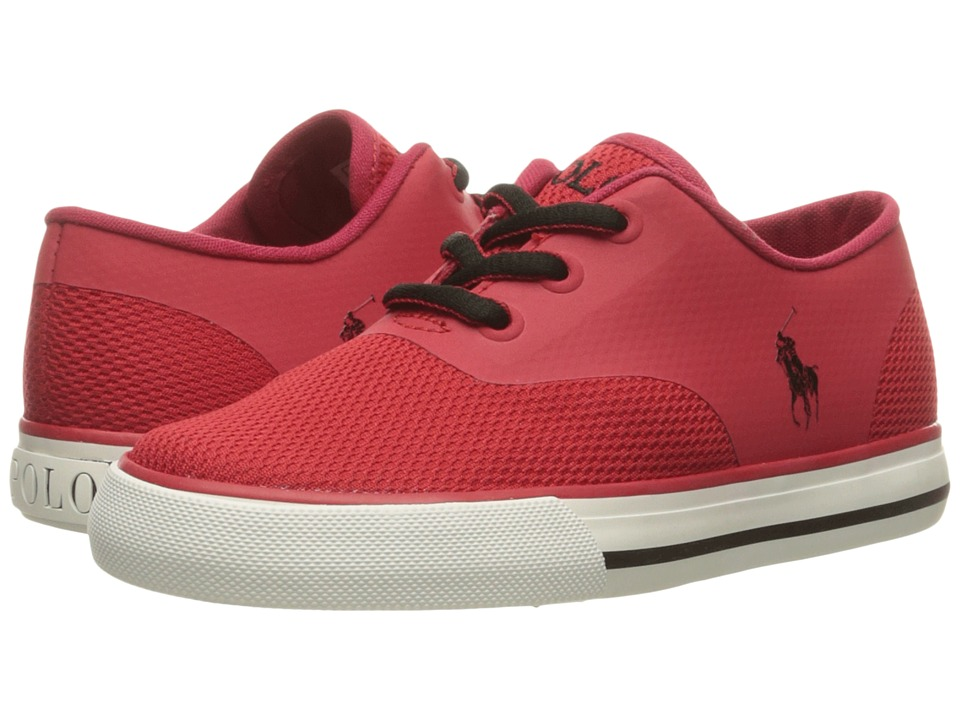 Polo Ralph Lauren Kids - Vaughn Fusion (Little Kid) (Red Mesh/Black Pony Player) Kid's Shoes