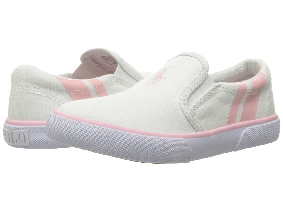 Polo Ralph Lauren Kids - Prezli (Toddler) (White/Light Pink Pony Player/Light Pink) Girl's Shoes