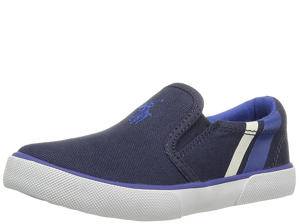 Polo Ralph Lauren Kids - Prezli (Toddler) (Navy Canvas/Royal Pony Player/White) Kid's Shoes