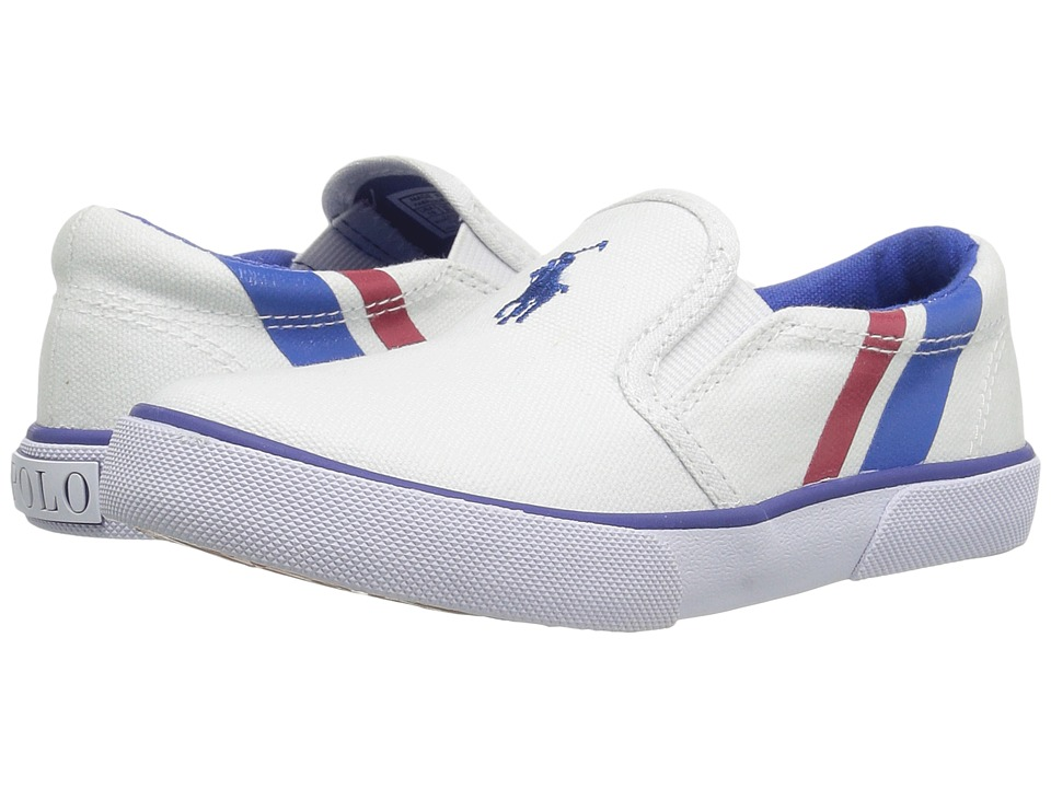 Polo Ralph Lauren Kids - Prezli (Toddler) (White/Royal Pony Player/Red) Kid's Shoes