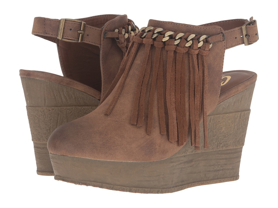 Sbicca - Allegretto (Tan) Women's Wedge Shoes