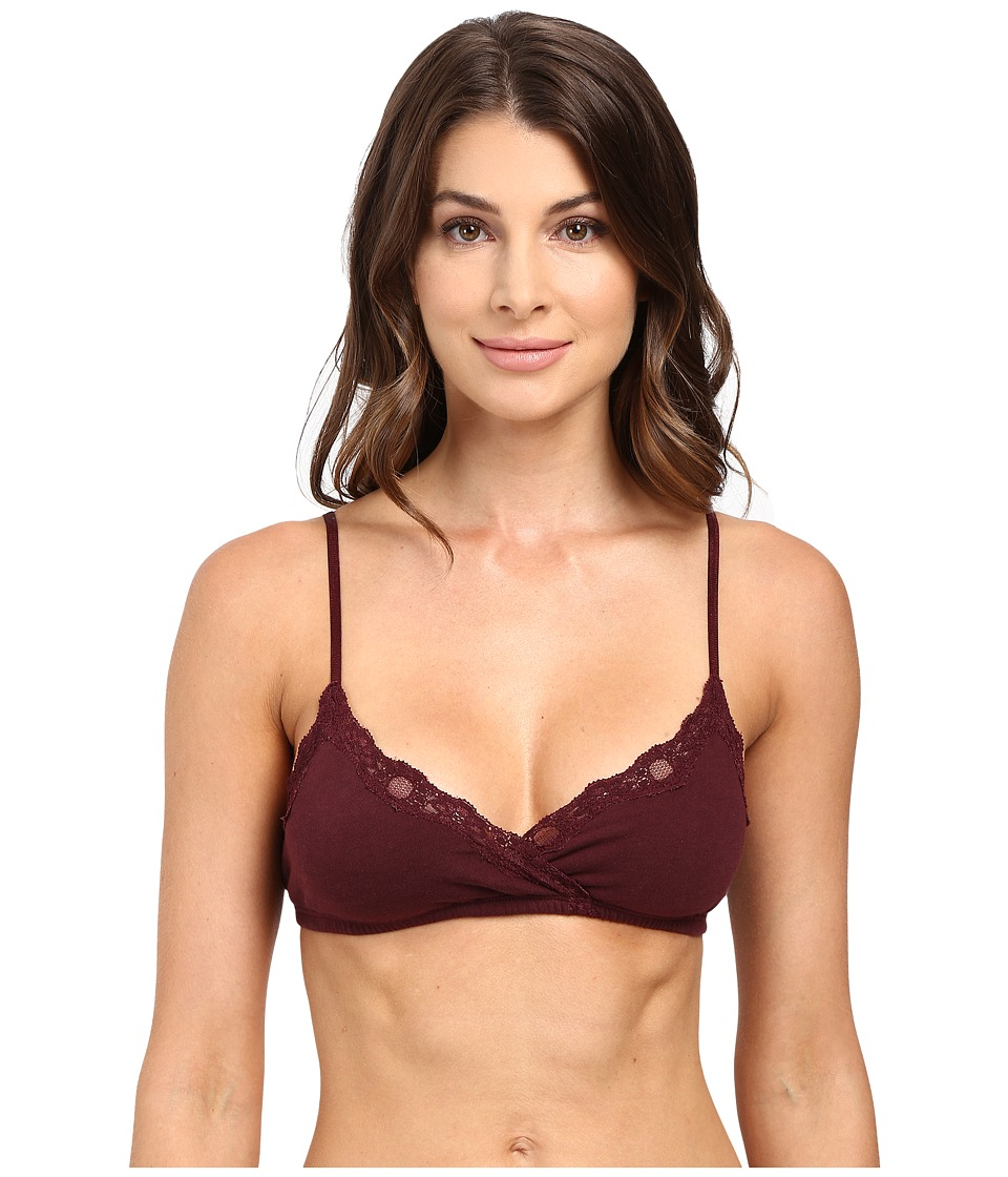 Only Hearts - Organic Cotton Wrap Bralette (Wine) Women's Bra
