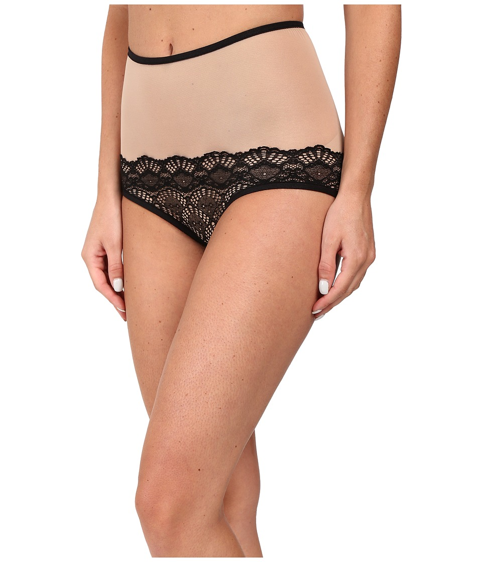 Only Hearts - Whisper Sweet Nothings High Waist Brief (Nude/Black) Women's Underwear