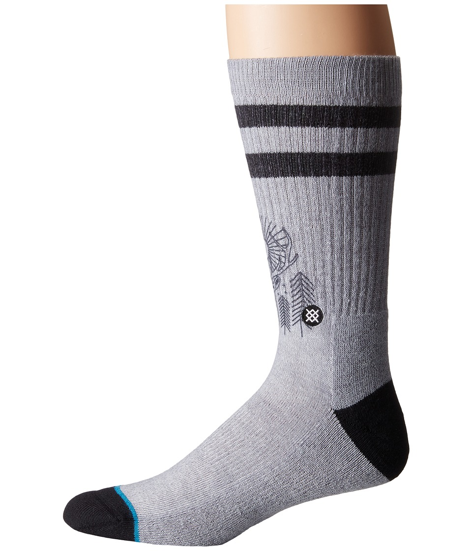 Stance - Peaceful (Grey) Men's Crew Cut Socks Shoes
