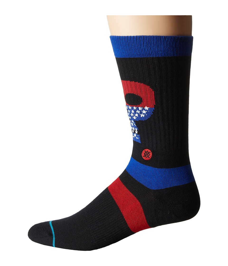 Stance - Freedom Heads (Black) Men's Crew Cut Socks Shoes
