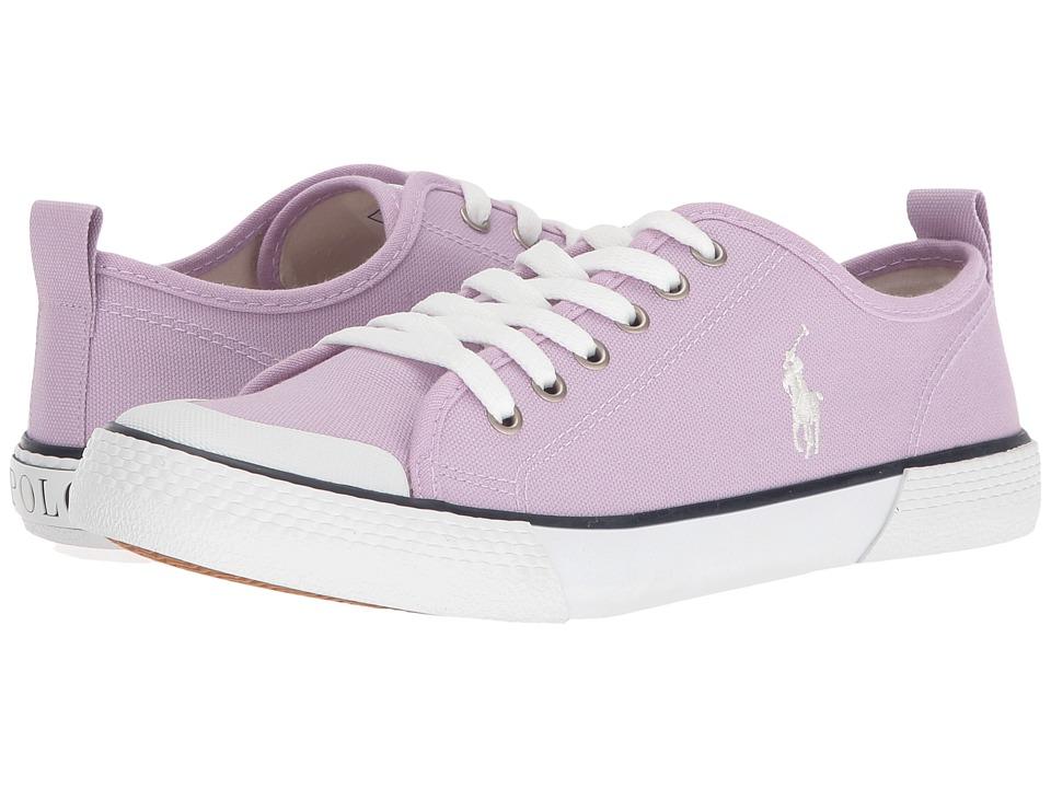 Polo Ralph Lauren Kids - Camden (Big Kid) (Lavendar Canvas/White Pony Player) Girl's Shoes