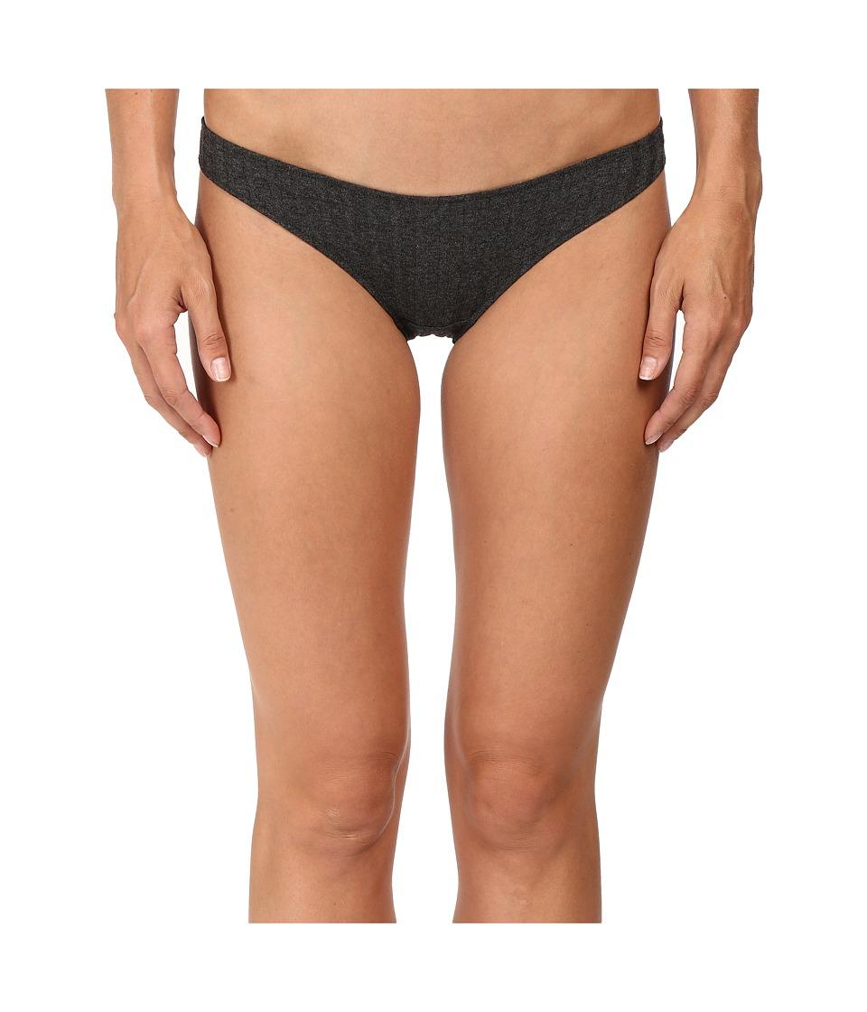 Only Hearts - Wide Wale Rib Bikini (Charcoal) Women's Underwear