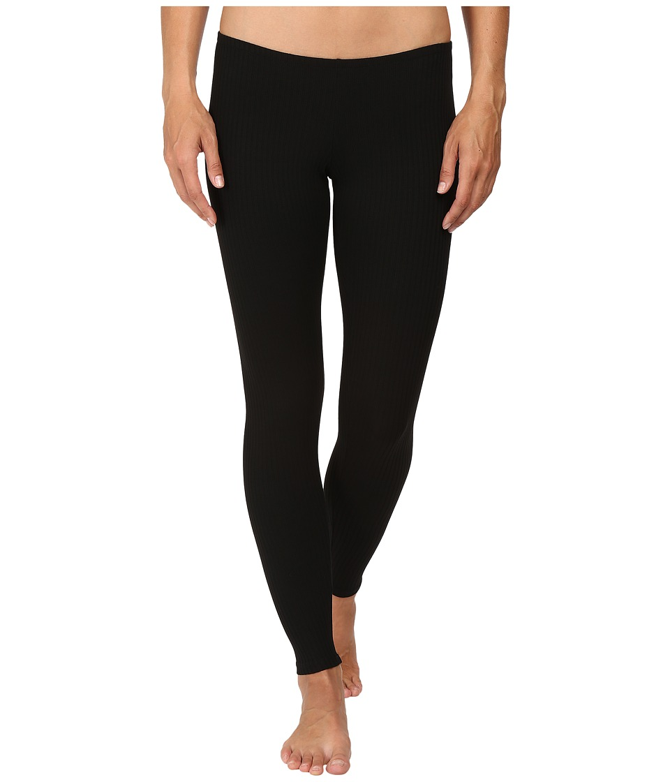 Only Hearts - French Terry Poor Boy Rib Leggings (Black) Women's Pajama