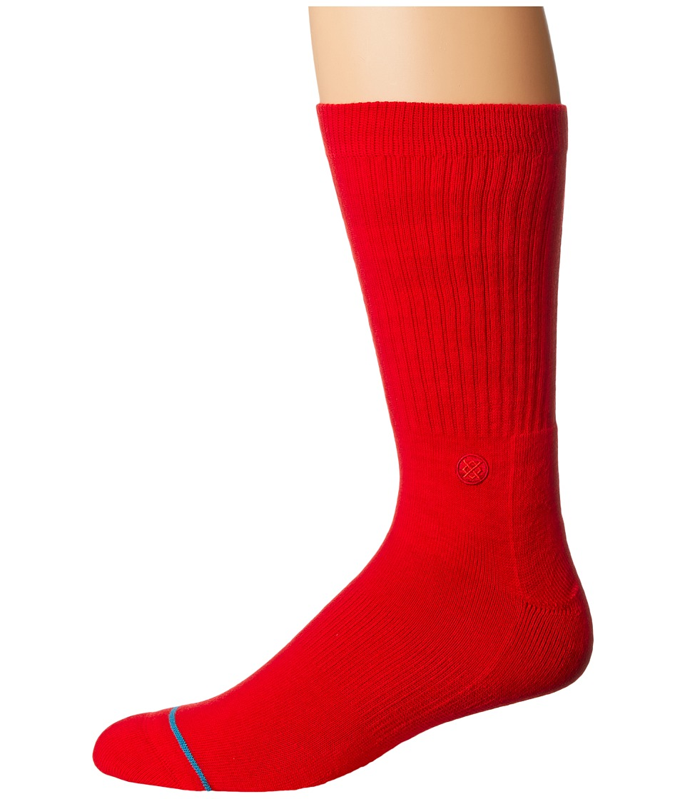 Stance - Domain (Red) Men's Crew Cut Socks Shoes