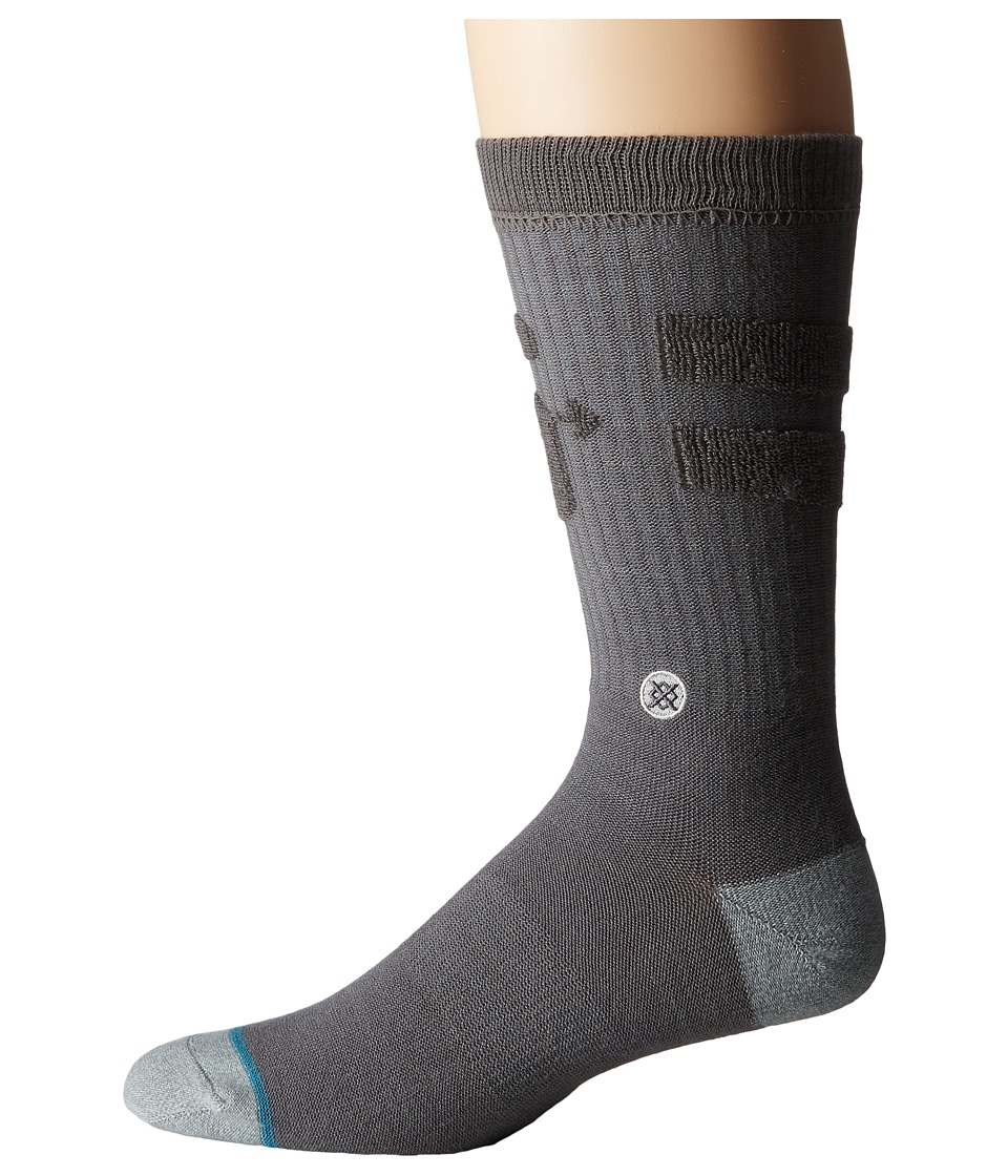 Stance - Revert (Grey) Men's Crew Cut Socks Shoes