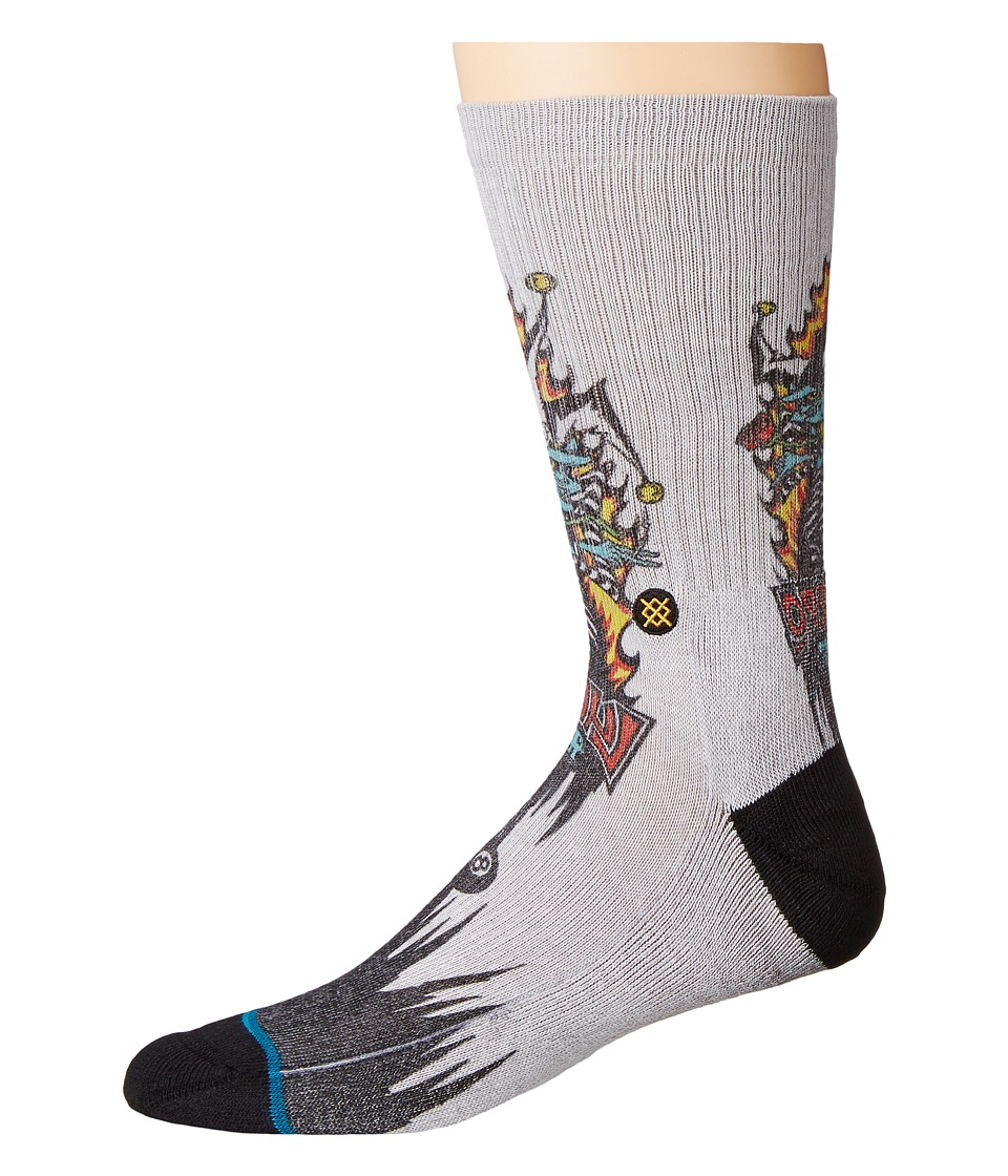 Stance - Lucero Joker (Grey) Men's Crew Cut Socks Shoes
