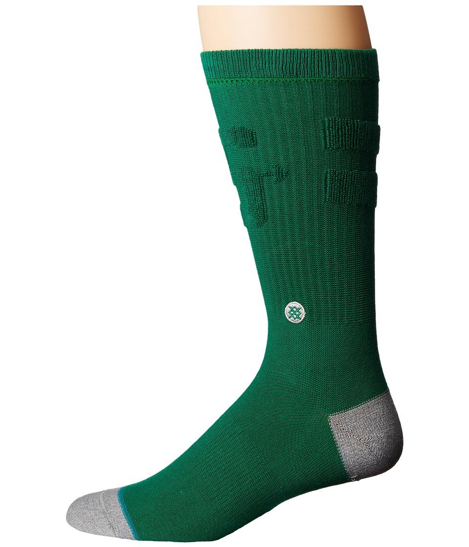 Stance - Revert (Green) Men's Crew Cut Socks Shoes