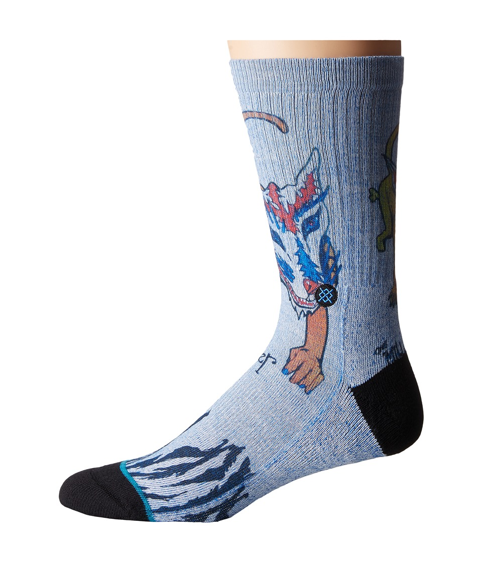Stance - Miller (Blue) Men's Crew Cut Socks Shoes