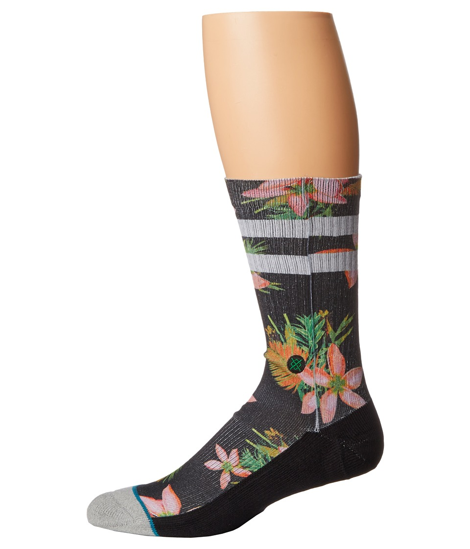 Stance - Lundy (Black) Men's Crew Cut Socks Shoes