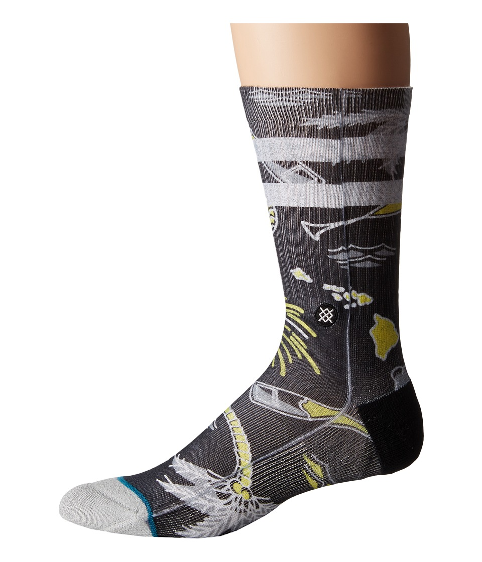 Stance - Resolution (Black) Men's Crew Cut Socks Shoes