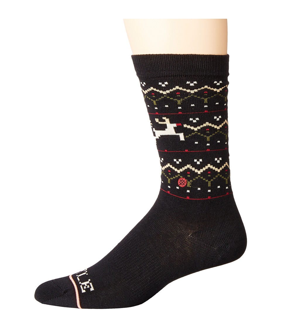 Stance - Mistle Toes (Black) Women's Crew Cut Socks Shoes