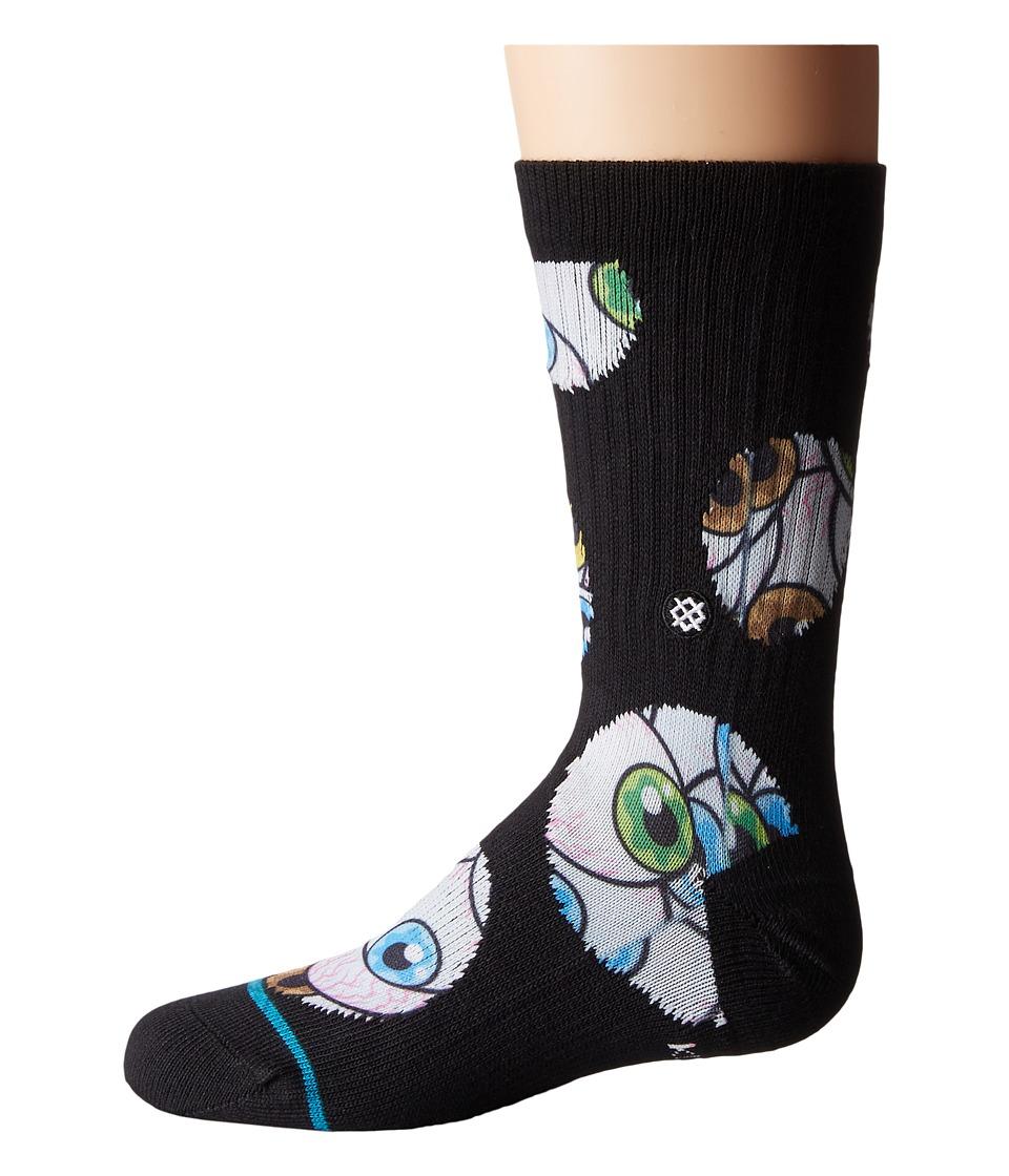Stance - Retina (Toddler/Little Kid/Big Kid) (Black) Men's Crew Cut Socks Shoes