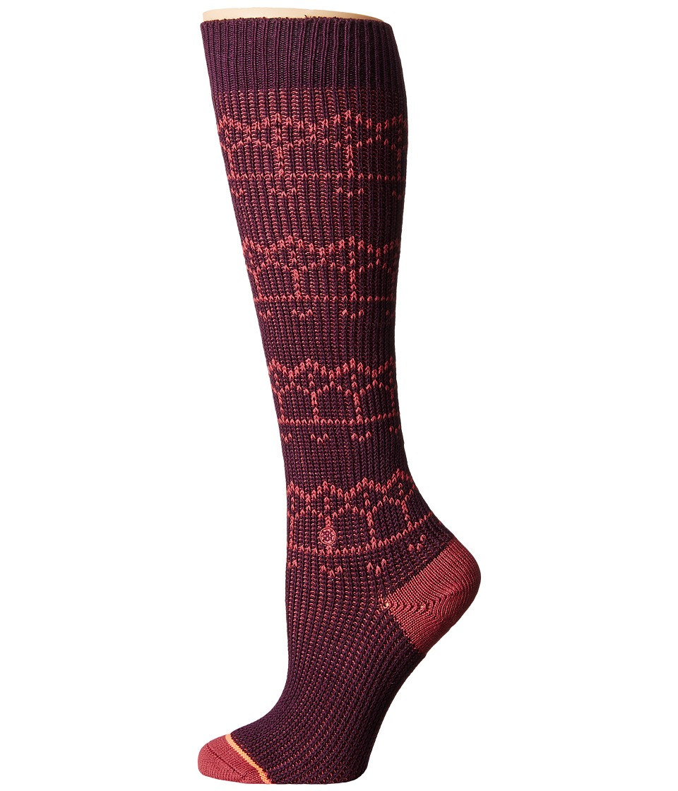 Stance - Inca Inca (Plum) Women's Crew Cut Socks Shoes