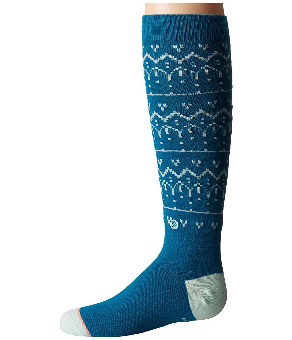 Stance - Inca (Toddler/Little Kid/Big Kid) (Blue) Women's Crew Cut Socks Shoes